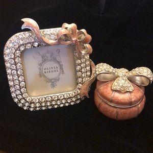 Olivia Riegel frame and trinket box
